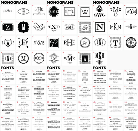 Monogram and fonts