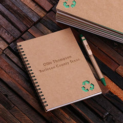 Personalised Eco-Friendly Notebook and Pen