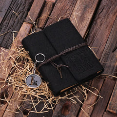 Personalised Felt Notebook/Journal & Key Ring Set