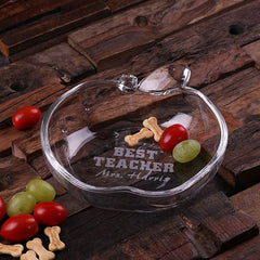Personalised Apple Shaped Glass Dish