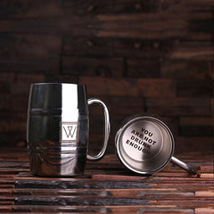Personalised Stainless Steel Beer Mug with Gift Box