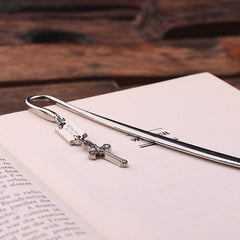 Personalised Stainless Steel Bookmark - Cross