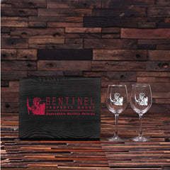 Personalised 2 Wine Glass Gift Set - Corporate