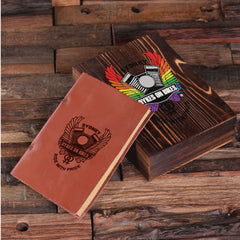 Personalised Leather Diary with Gift Box - Corporate