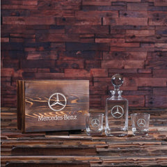 Personalised Global Lid Whiskey Decanter and 2 Glass Gift Set - Corporate