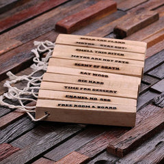 Personalised Camphor Wood Strips - Set of 10