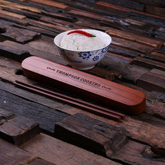 Personalised Chopstick Holder with Chopsticks