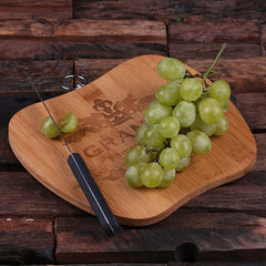 Personalised Apple Shape Bamboo Cutting Board