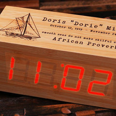 Personalised Digital Wood Clock