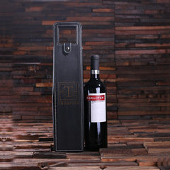 Personalised Leather Wine Bottle Holder