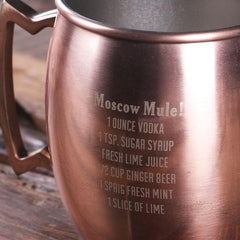 Personalised Stainless Steel Moscow Mule Mug