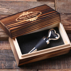 Personalised Heart Shaped Wine Stopper with Gift Box