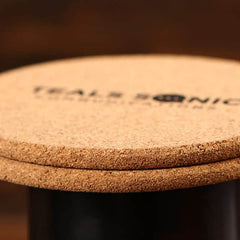 Corporate Branded Small Round Cork Coaster - Set of 4
