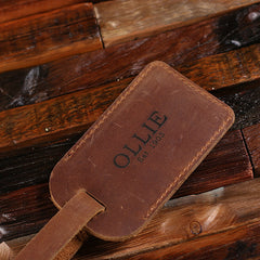 Personalised Leather Luggage Tag