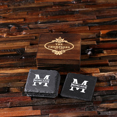 Personalised Square Slate Coasters
