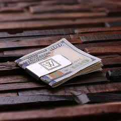 Personalised Stainless Steel Money Clip with Gift Box