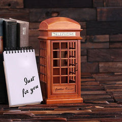 Personalised Phone Booth Music Box