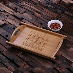 Personalised Rectangle Wood Serving Tray
