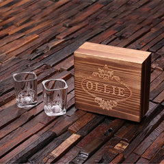 Personalised 2 Shot Glass Gift Set