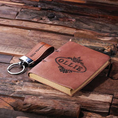 Personalised 2 Pc. Gift Set - Key Chain & Journal