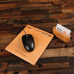 Personalised Pen, Pen Holder Mouse Pad and Business Card Holder