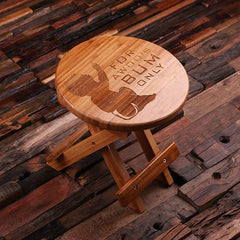Personalised Wood Stool For Toddler