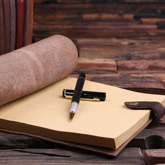 Personalised Leather Travel Diary/Sketchbook
