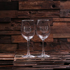 Personalised 2 Wine Glass Gift Set