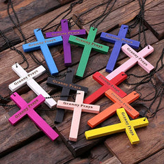 Personalised Wood Religious Cross