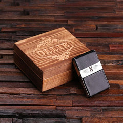 Personalised Business Card Holder with Gift Box