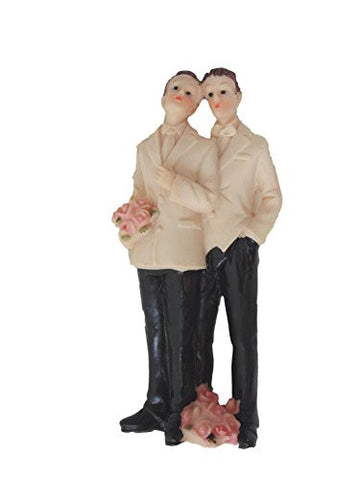 Gay Couple Male - Cake Topper 5""
