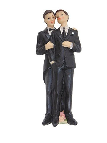 "Gay Bridal Cake Topper 7"" High"