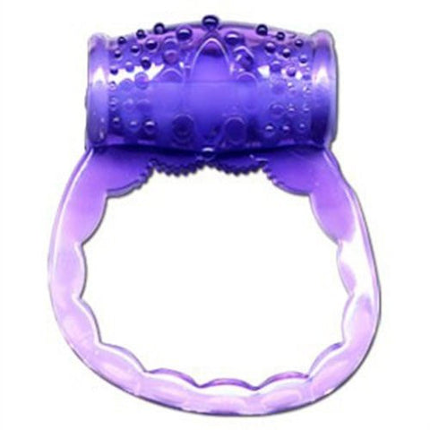 Purple Vibrating Cock Ring
