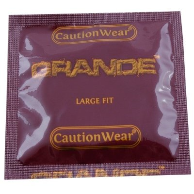 Grande Condoms By Caution Wear (Large Condoms) Multi-Packs
