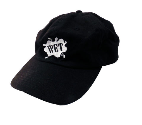 Wet Splash Logo Embroidered Black Cap