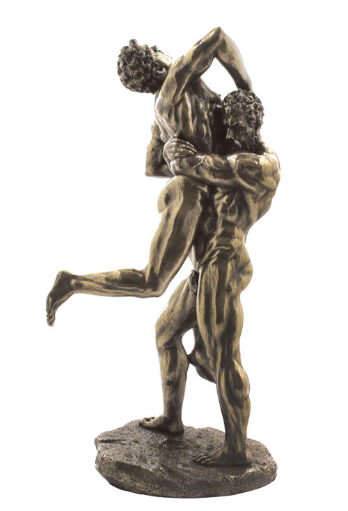 Hercules And Antaeus Bronze Erotic Sculpture