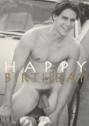 Naked Birthday Boy - Men's Gay Card