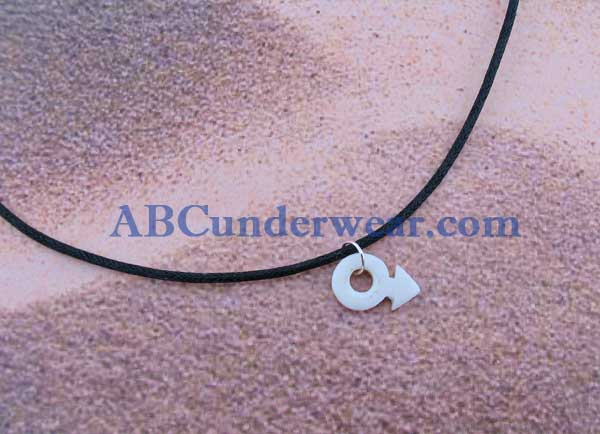Bone Male Symbol Necklace