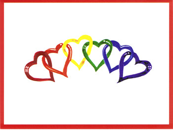 10 Pack Rainbow Hearts Notecards