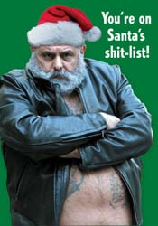 Santa's Shit List - Bear Holiday Cards