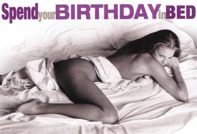 Birthday in Bed- Lesbian Card