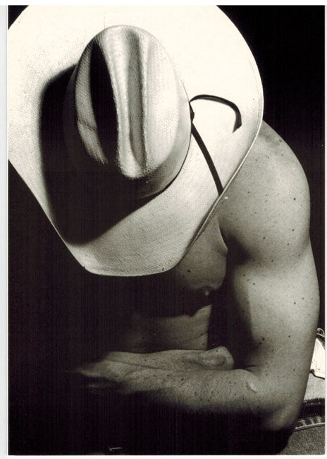 Hot Cowboy White Hat - Gay Card