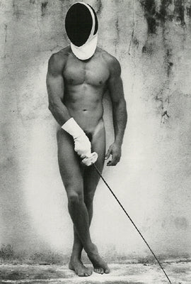 Fencing- Naked Male Card
