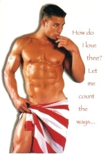How do I love thee- Men's Valentine Card