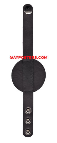 Leather Disc 3 Snap Cock Ring - Adult Toy