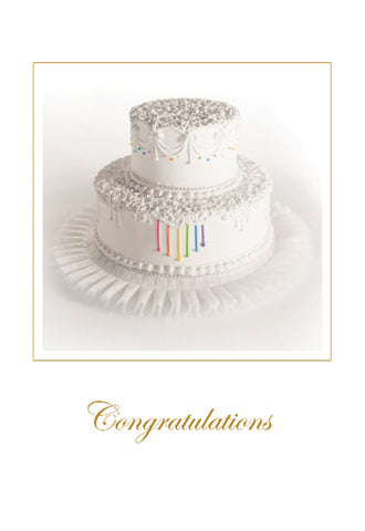 Rainbow Gay Wedding Cake Card