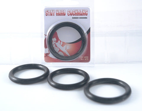 Stay Hard Rubber Cockring - Adult Toy