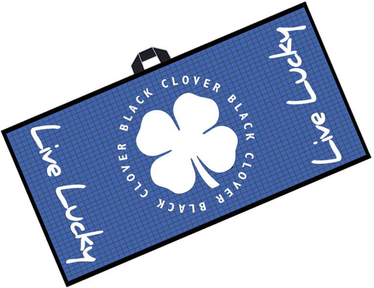 Black Clover Swag Towel Light Blue Alt