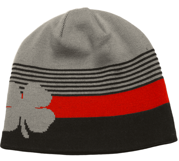 Black Clover Gray, Black and Red Beanie front view