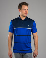 Stripes Navy Polo